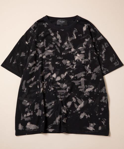 CASPER JOHN AIVER フェザーブリーチビッグTシャツ