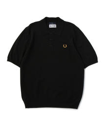 FRED PERRY x MILES KANE TEXTURE PANEL KNITTED SHIRT