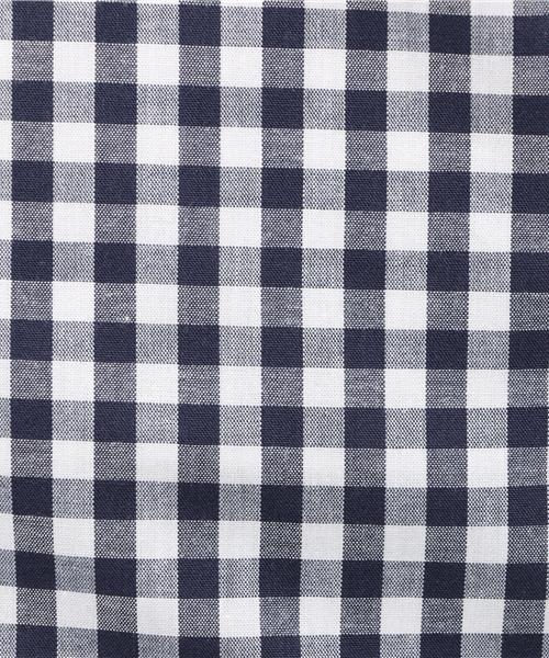 【Garcon Wave】日本製/ギンガムチェックワイドカラーボタンダウンシャツ