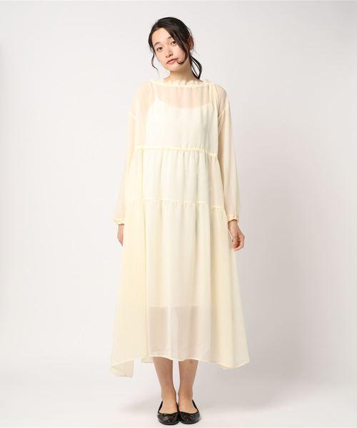 シフォン ドレス