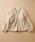 haco!(ハコ)の「お手軽羽織りにぴったりな 手編みのざっくりニットカーディガン by que made me(カーディガン)」|アイボリー