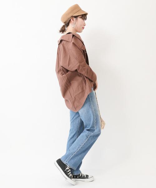 ・抜け襟ワ-クシャツ ●