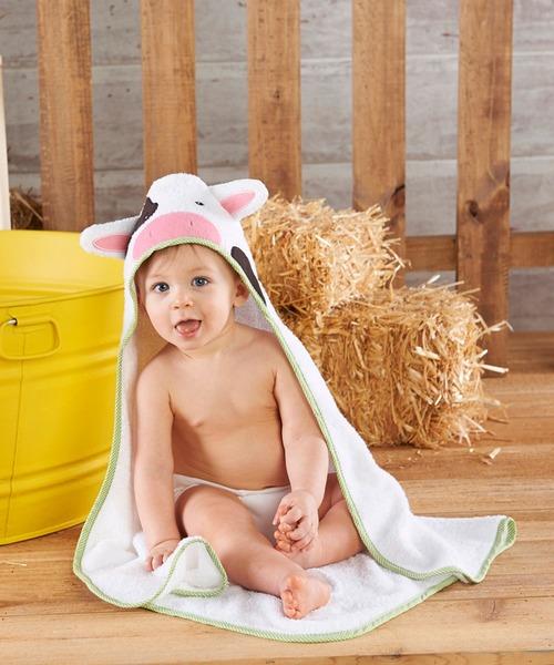 【Baby Aspen / ベビーアスペン】フード付きベビーバスタオル