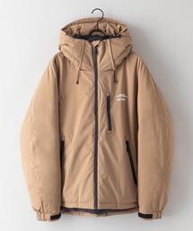 撥水中綿フードジャケット 昨年人気モデルが更に進化して登場 防風/撥水/ストレッチ/耐水圧/防花粉/UVと高機能素材を使用 ユニセックスカーキ