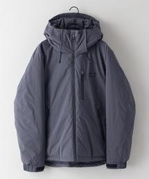 撥水中綿フードジャケット 昨年人気モデルが更に進化して登場 防風/撥水/ストレッチ/耐水圧/防花粉/UVと高機能素材を使用 ユニセックスチャコールグレー