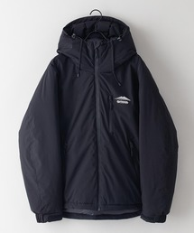 撥水中綿フードジャケット 昨年人気モデルが更に進化して登場 防風/撥水/ストレッチ/耐水圧/防花粉/UVと高機能素材を使用 ユニセックスブラック