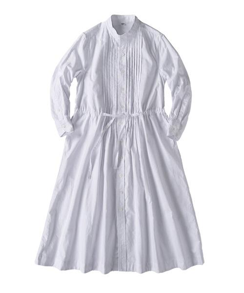 オックスフォードのタックシャツドレス
