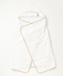 HAKKA BABY(ハッカベビー)の[ベビー]オリジナルコジカアップリケフード付きバスタオル(バスタオル)