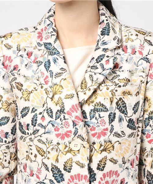 花柄ジャガードコート