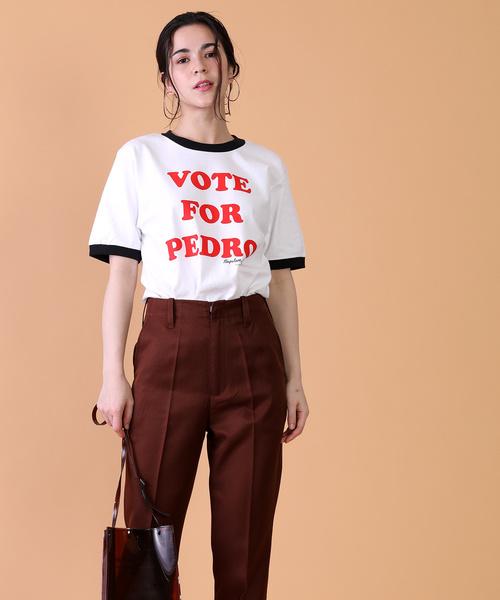 "MOVIE TEE NAPOLEON DYNAMITE/""Vote For Pedro'ロゴTシャツ"