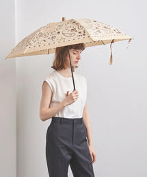 <manipuri(マニプリ)>プリント 晴雨兼用 折りたたみ傘◆