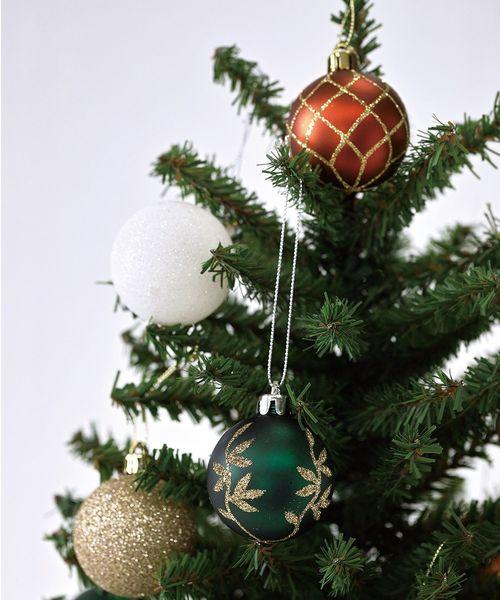 SPICE OF LIFE(スパイス オブ ライフ)の「クリスマス パーティーオーナメント 5cmボール17個セット(インテリアアクセサリー)」|レッド
