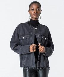 d2cc9f8cef7 アウター 【Upsize Dust Black Jeans Jacket】 ジャケット レディース black Cheap Monday チープマンデー