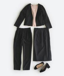 haco!(ハコ)の持っていると便利な 野暮ったくならない フォーマルジャケット・パンツ・スカートの3点セット(セットアップ)