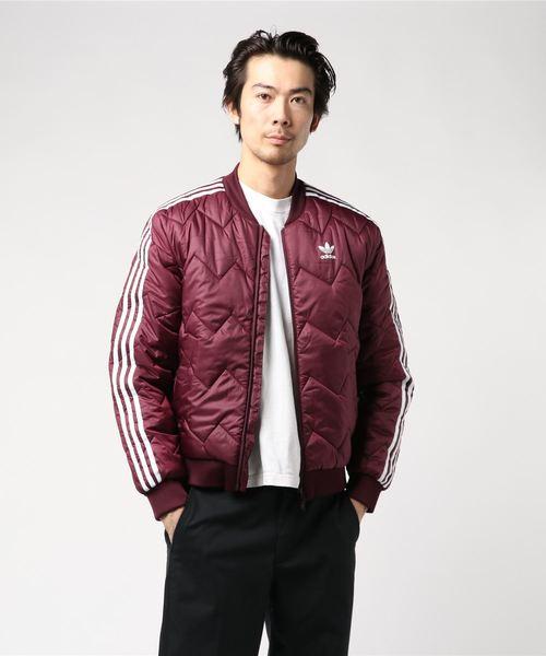 adidas(アディダス)の「キルト ジャケット [SST QUILTED JACKET] アディダスオリジナルス(MA-1)」 マルーン