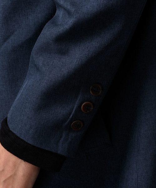 【MANGROVE】ポリトロBIGシルエットロングステンカラーコート