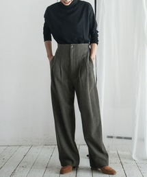 FIL DE FER(フィルデフェール)の【Fabric in Italy】ミックスカラーツイード ツータックパンツ(パンツ)