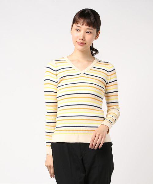 良質  【セール】VネックマルチボーダーPO(ニット/セーター)|J.FERRY(ジェイフェリー)のファッション通販, トツカク:aa79e03c --- hundeteamschule-shop.de