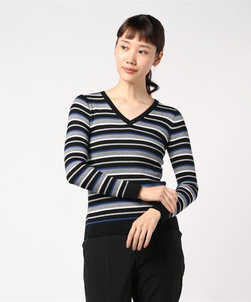 【1着でも送料無料】 【セール】VネックマルチボーダーPO(ニット/セーター)|J.FERRY(ジェイフェリー)のファッション通販, はんどくらふとCOCO:b16c430e --- hundeteamschule-shop.de