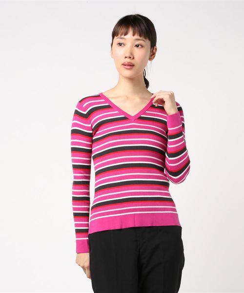 最高級 【セール】VネックマルチボーダーPO(ニット/セーター)|J.FERRY(ジェイフェリー)のファッション通販, ノミグン:f95046e5 --- hundeteamschule-shop.de