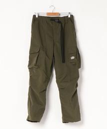 難燃カーゴパンツ 撥水  着るBAGシリーズ  ポケット10個  収納力抜群 裾スピンドル仕様オリーブ