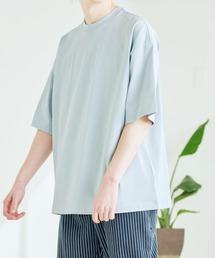シルケットライク コーマ綿糸度詰め天竺 オーバーサイズ S/S カットソー 無地T トップス Tシャツ  -2021SUMMER-グレー系その他