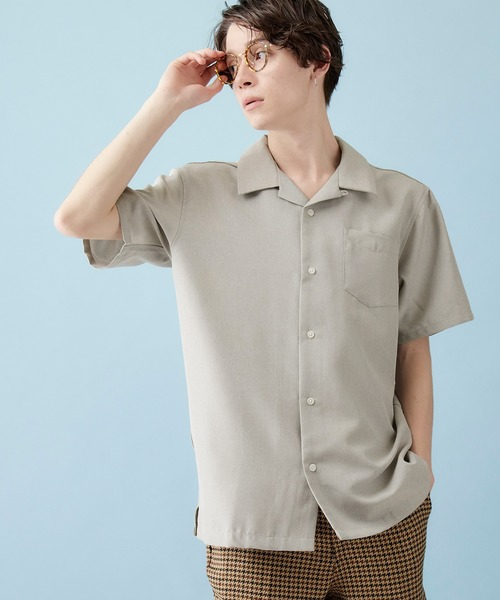 ポリトロリラックスオープンカラーシャツ 2020