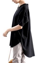 67077c8abde classicalelf(クラシカルエルフ)のバックヘンリー半袖チュニック(Tシャツ/カットソー)