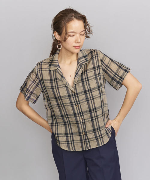 <GROVE SEOUL>オープンカラーシャツ