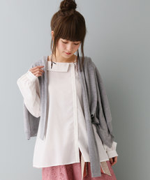 n'Or(ノアール.)のn'Orアシンメトリーデザインシャツ(シャツ/ブラウス)