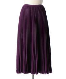 Drawer 18Gウールフリンジプリーツスカート