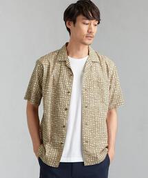 MC ミラクルウェーブ パターン 半袖 / オープンカラーシャツ †