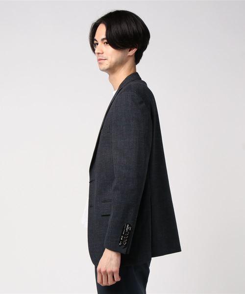 エムエフエディトリアルメンズ/m.f.editorial:MEN mf×ATSURO TAYAMA ソンドリオ/SONDRIO セットアップグレンチェックネイビー 2釦テーラードビジネスジャケット (セットアップパンツございます)