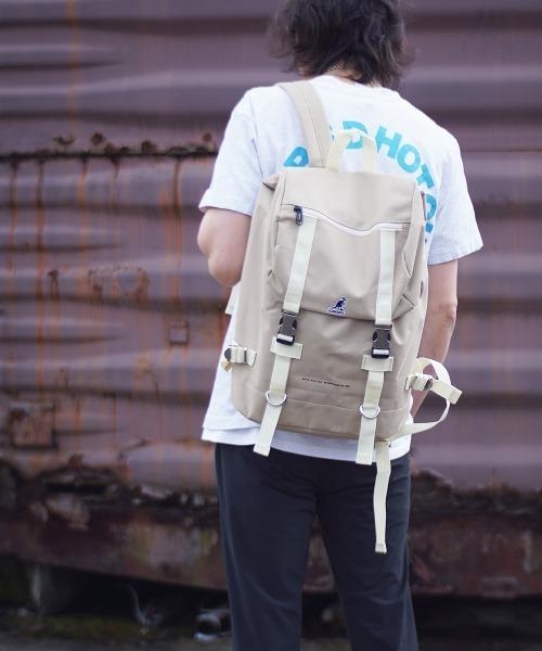 【KANGOL/カンゴール】 刺繍ロゴ ダブルバックル バックパック
