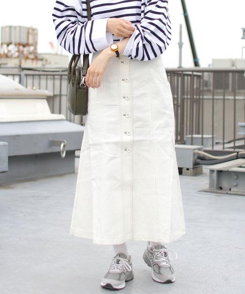 THE SHINZONE/ シンゾーン ボタンフロントスカート BUTTON FRONT SKIRT