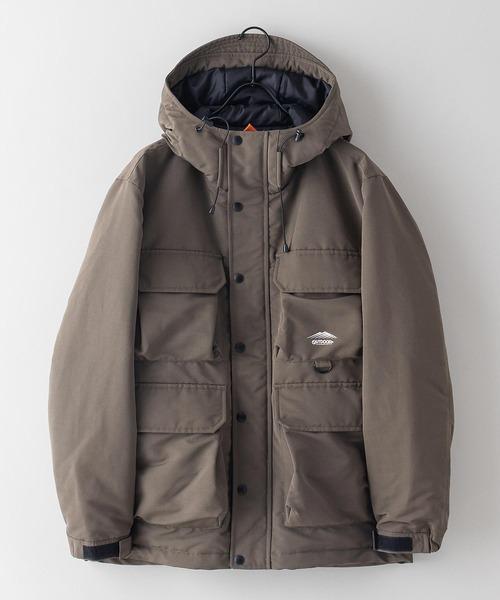 難燃加工ボックスジャケット 撥水加工  発熱中綿 着るBAGシリーズ ポケット10個 収納力抜群 ハーネス仕様  体温調節を容易にできる仕様