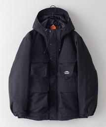 難燃加工ボックスジャケット 撥水加工  発熱中綿 着るBAGシリーズ ポケット10個 収納力抜群 ハーネス仕様  体温調節を容易にできる仕様ブラック