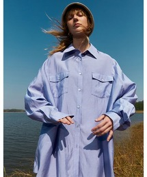 【Fano Studios】【2021SS】Oversized double pocket shirt FC21S101ライトパープル