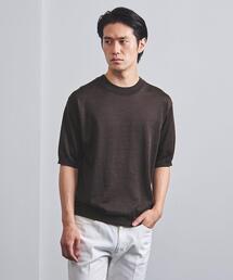 <UNITED ARROWS> ラミー/ポリエステル ニット Tシャツ