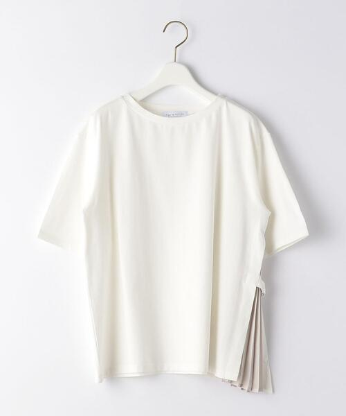 <A DAY IN THE LIFE>サイドプリーツ デザインTシャツ
