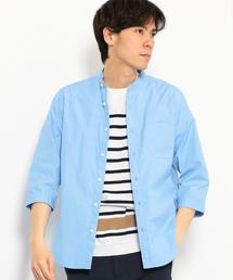 CM タイプライター バンドカラー 7分袖 シャツ ◆