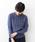Jines(ジネス)の「イタリー糸ケーブルクルーネックニット(ニット/セーター)」|パープル