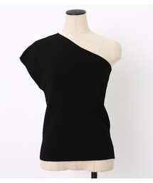 BLACK BY MOUSSY(ブラックバイマウジー)のwashable one shoulder tops(その他トップス)