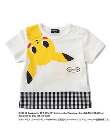 【ポケモン】裾切替ピカチュウデザインTシャツ(Tシャツ/カットソー)