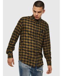 DIESEL(ディーゼル)のメンズ シャツ 刺繍 チェックシャツ(シャツ/ブラウス)