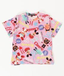 YOKO DOLL MIX柄 Tシャツ【XS/S/M】ピンク系その他