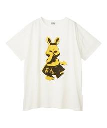 LITTLE RABBIT オーバーサイズTシャツホワイト