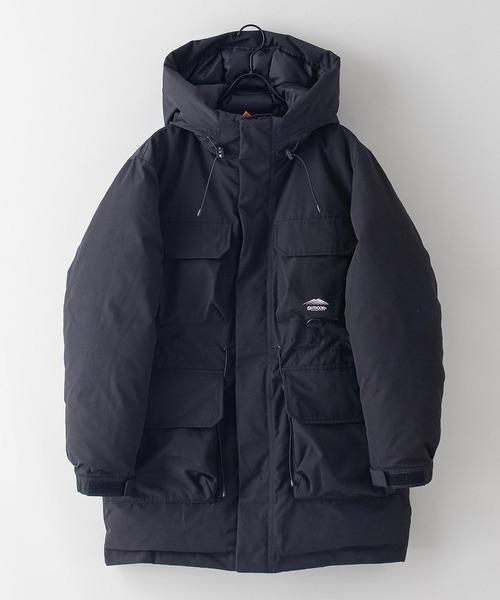 撥水 発熱 中綿ハーフコート 着るBAGシリーズ ポケット10個 収納力抜群 ハーネス仕様 体温調節を容易にできる仕様