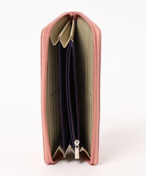 【anello】高密度杢調ポリ ラウンドZ長財布