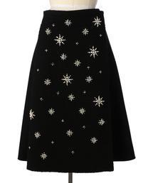 Drawer パールビーズラップスカート